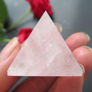 Light Rose Quartz Healing Pyramid - atperry's healing crystals