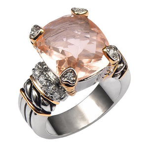 Morganite Quality Ring - 925 Sterling Silver (Unisex) - atperry's healing crystals