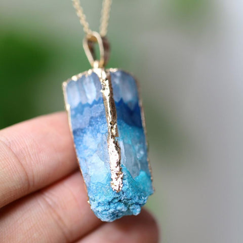 Natural Geode Pendant Necklace - AtPerry's Healing Crystals™