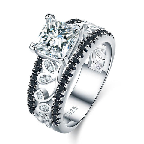 Diamond Crystal 925 Sterling Silver Ring - AtPerry's Healing Crystals™