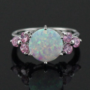 White Fire Opal Pink Topaz Ring   AtPerrys Healing Crystals   1