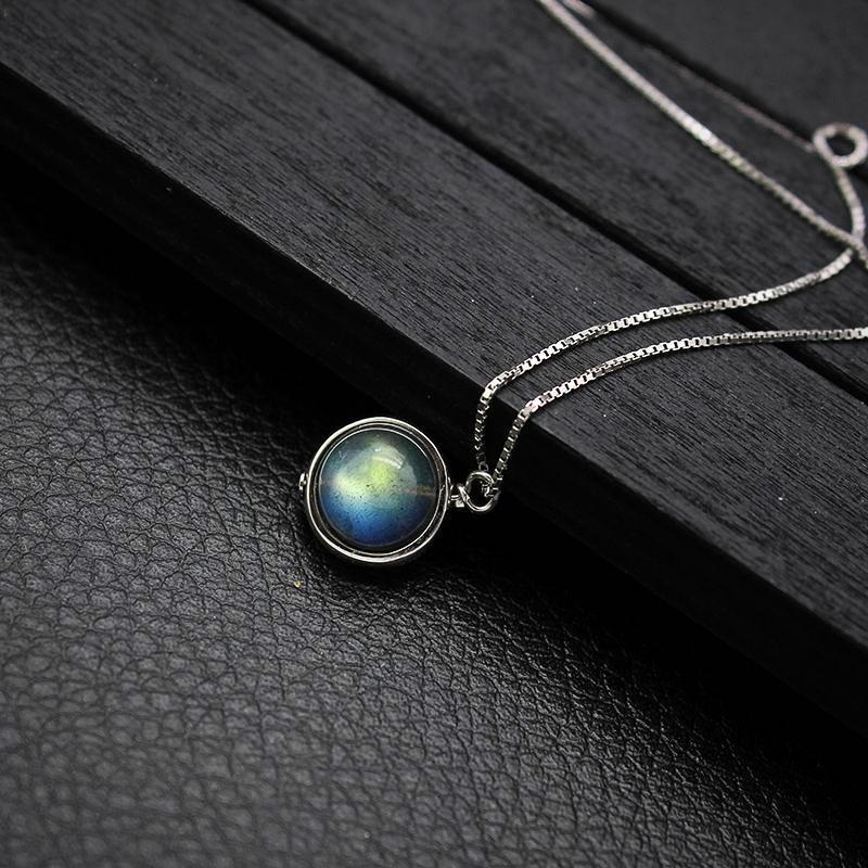 Labradorite Necklace - 925 Sterling Silver - atperry's healing crystals