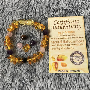 Natural Baltic Amber Bracelet - Made in Lithuania - atperry's healing crystals
