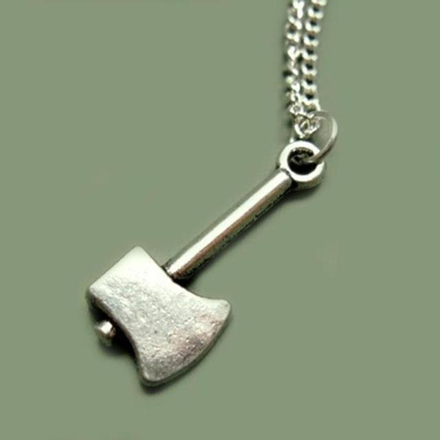 Steel Axe Necklace - atperry's healing crystals
