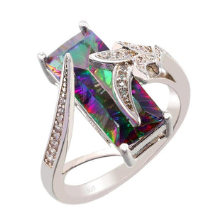 Luxurious Rainbow Mystic Topaz Ring - AtPerry's Healing Crystals™