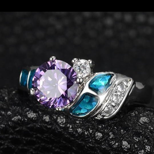 Amethyst  925 Sterling Silver Ring - atperry's healing crystals