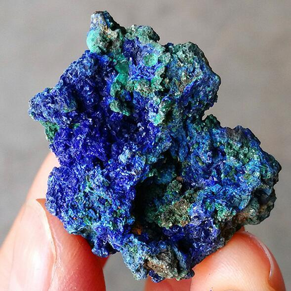 Natural blue azurite malachite green mineral