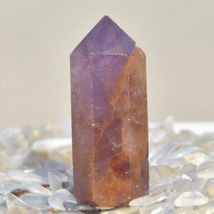 Natural Super 7 Crystal Wand - atperry's healing crystals