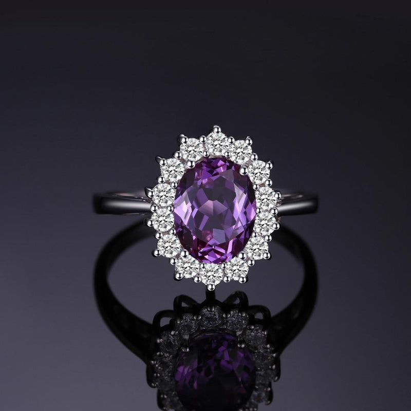 Princess Diana Alexandrite Ring - 925 Sterling Silver