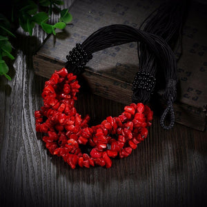 Natural Coral Boho Necklace