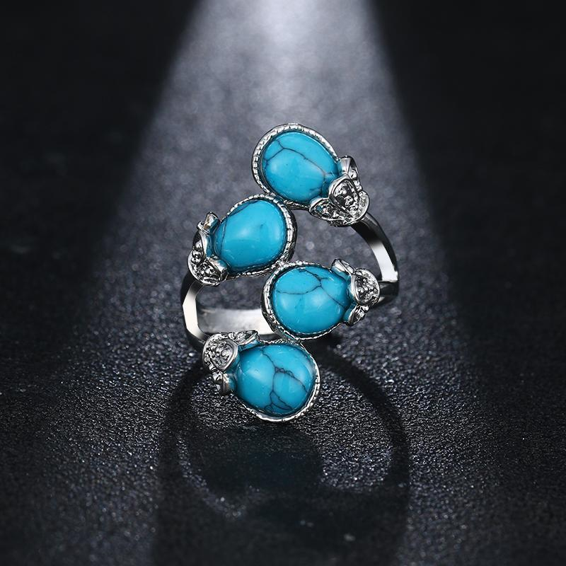 Four Stone Turquoise Ring - atperry's healing crystals