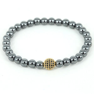 Hematite Bracelet with Brass - atperry's healing crystals