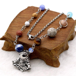 Meditated Astronaut Pendant Necklace - atperry's healing crystals