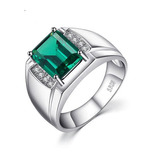 Authentic Luxury Emerald Ring- 925 Sterling Sliver - atperry's healing crystals