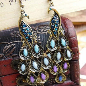 Peacock Vintage Earrings - atperry's healing crystals