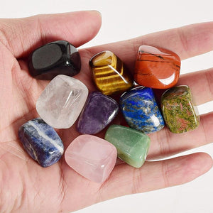 10 Pieces/Box Natural Tumbled Crystal Gemstones - atperry's healing crystals
