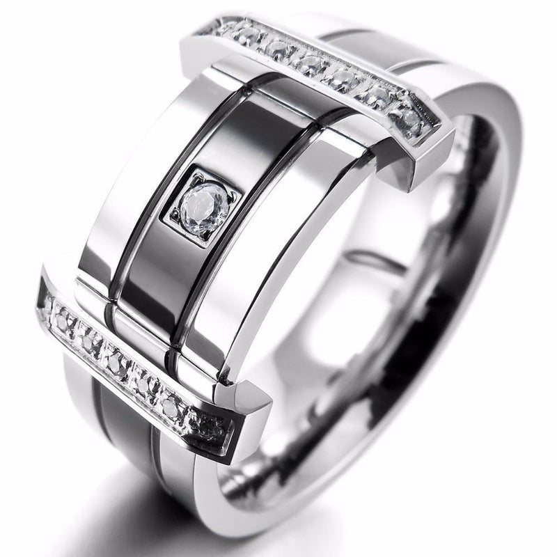 Men's Stainless Steel Ring - atperry's healing crystals