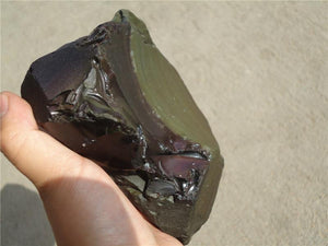 Natural Apache Tear Obsidian Stone - atperry's healing crystals