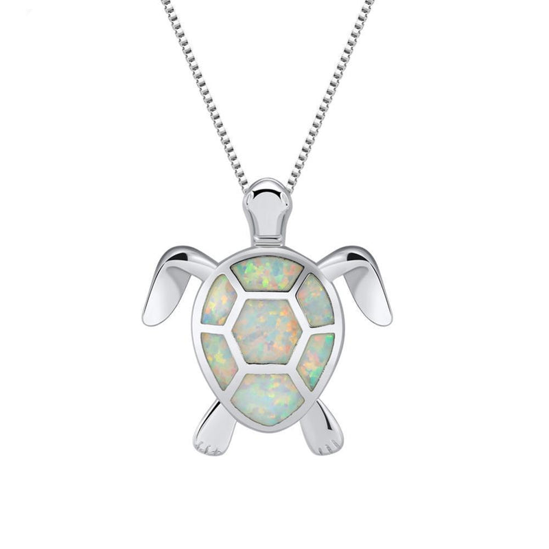 Ocean Turtle Opal Necklace - atperry's healing crystals