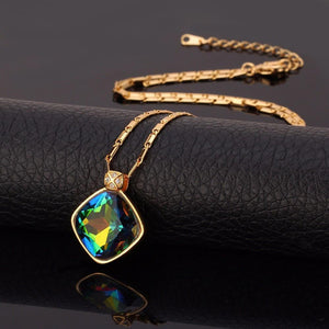 Luxury Mystic Topaz Necklace - atperry's healing crystals