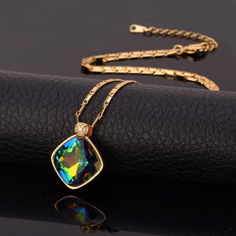 Luxury Mystic Topaz NecklaceNecklace