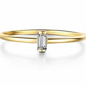 Solid 14K Yellow Gold Diamond Ring