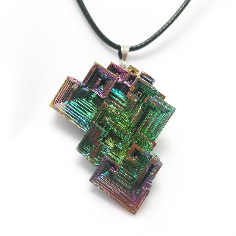 Multi-Color Bismuth Necklace - atperry's healing crystals