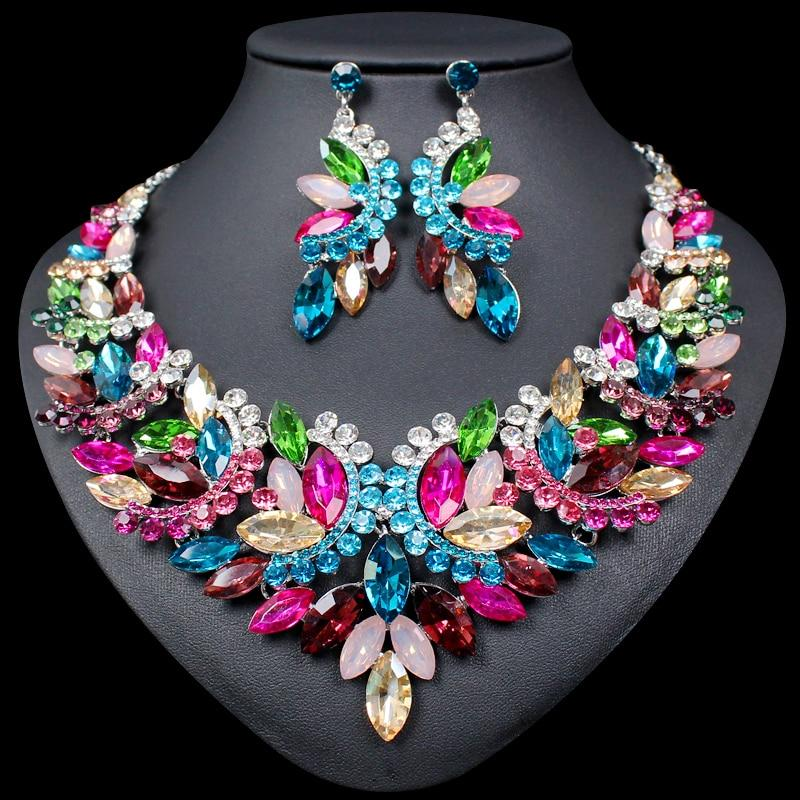 Multi Statement Necklace & Earrings Set - atperry's healing crystals