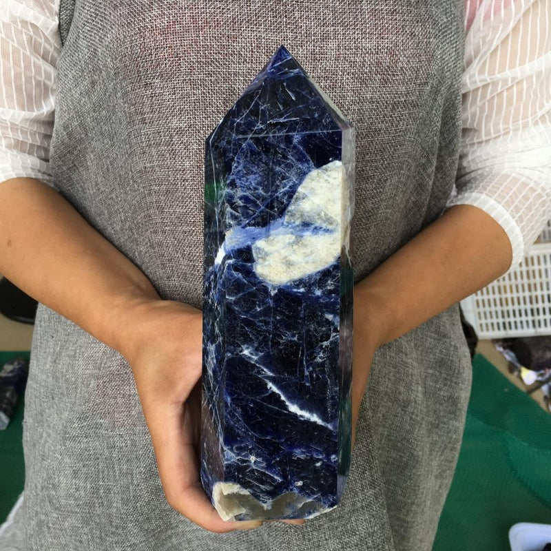 Big Size Natural Sodalite Crystal Quartzraw stone