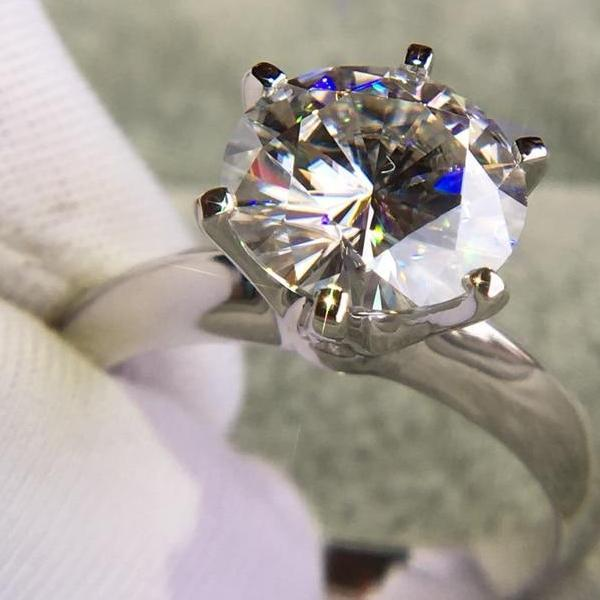 14K White Gold Plated Silver Ring