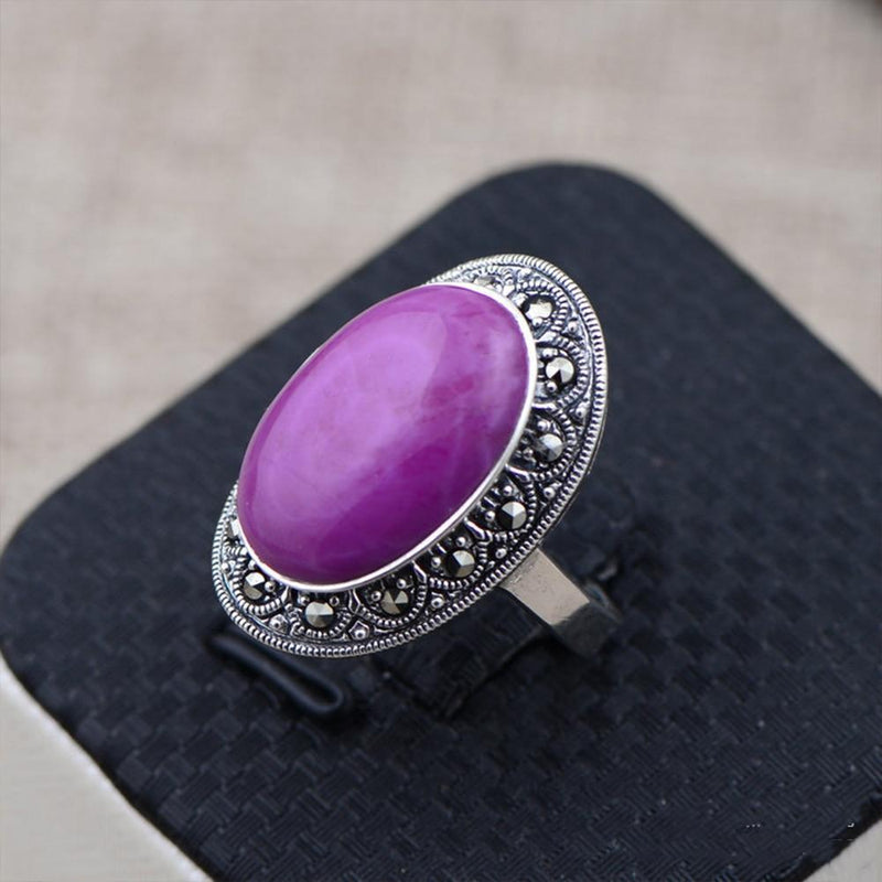 Vintage Natural Sugilite Ring - 925 Sterling Silver - atperry's healing crystals