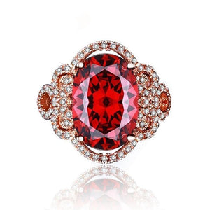 Gorgeous Deep Blood Ruby Ring