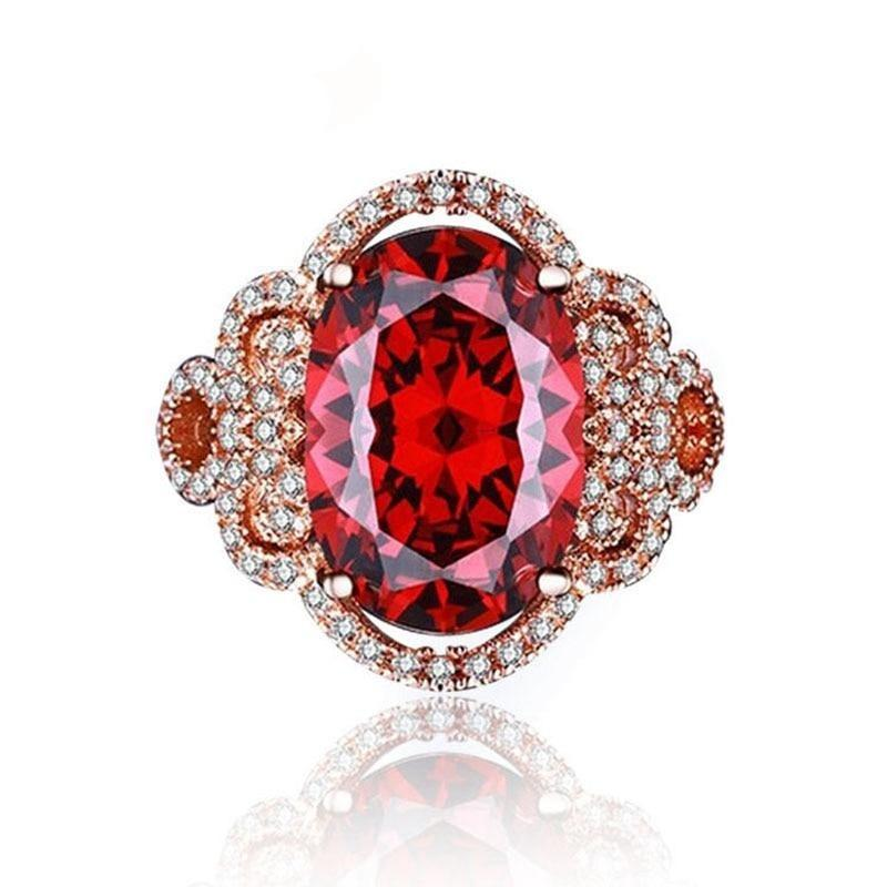 Gorgeous Deep Blood Ruby RingRing6