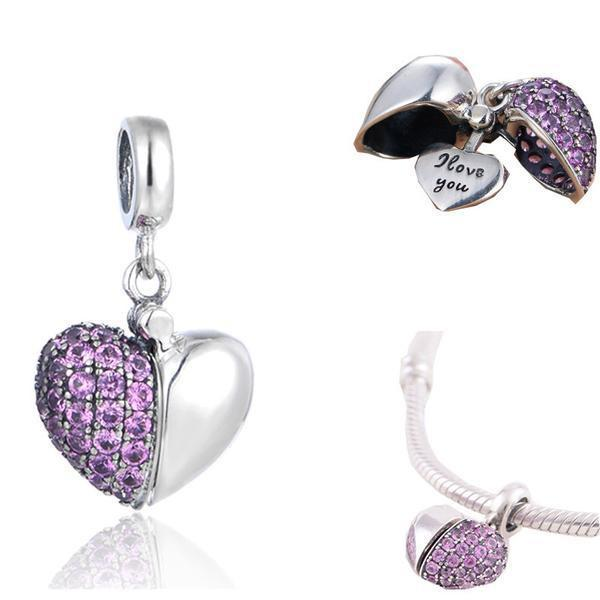Heart Charm Pendant - 925 Sterling Silver - atperry's healing crystals