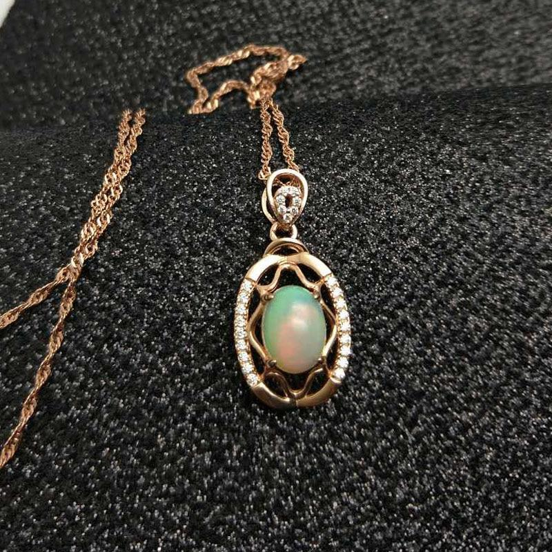 Ethiopian Opal Necklace- 925 Sterling Silver