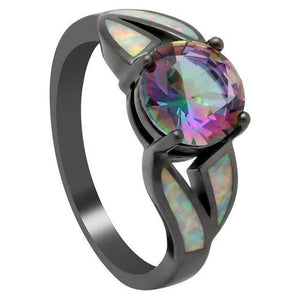 Mystic Topaz Blue Fire Opal Ring