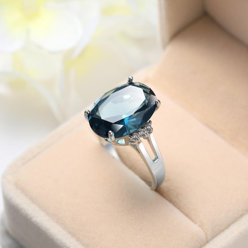 Gorgeous Silver Plated Sapphire Ring (September Birthstone) - atperry's healing crystals
