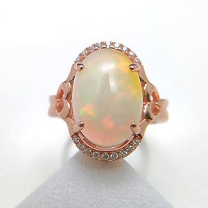 Natural Big Ethiopian Opal - 925 Sterling Silver - atperry's healing crystals
