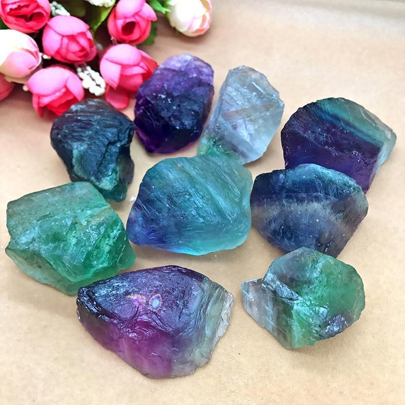 Natural Crystal Fluorite Stones