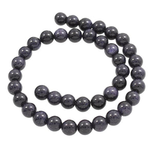 Natural Blue Goldstone Beads - atperry's healing crystals