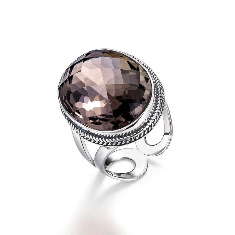 Elegant Brown Smoky Quartz Ring