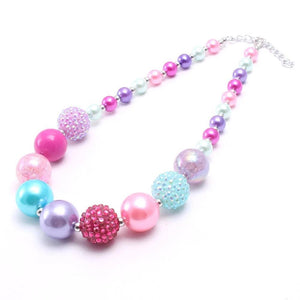 Colorful Crystal Beads Necklace - For Kids