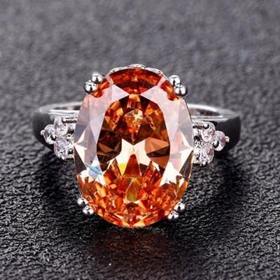 Citrine Gemstone Ring - 925 Sterling Silver