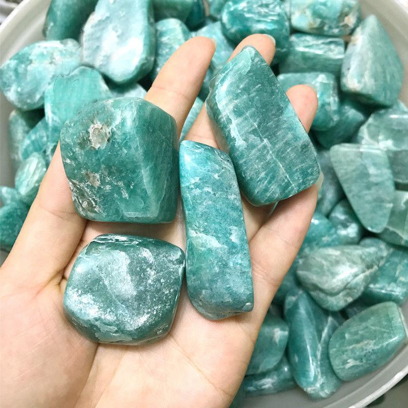 100G  Natural Amazonite Raw Gemstones - atperry's healing crystals