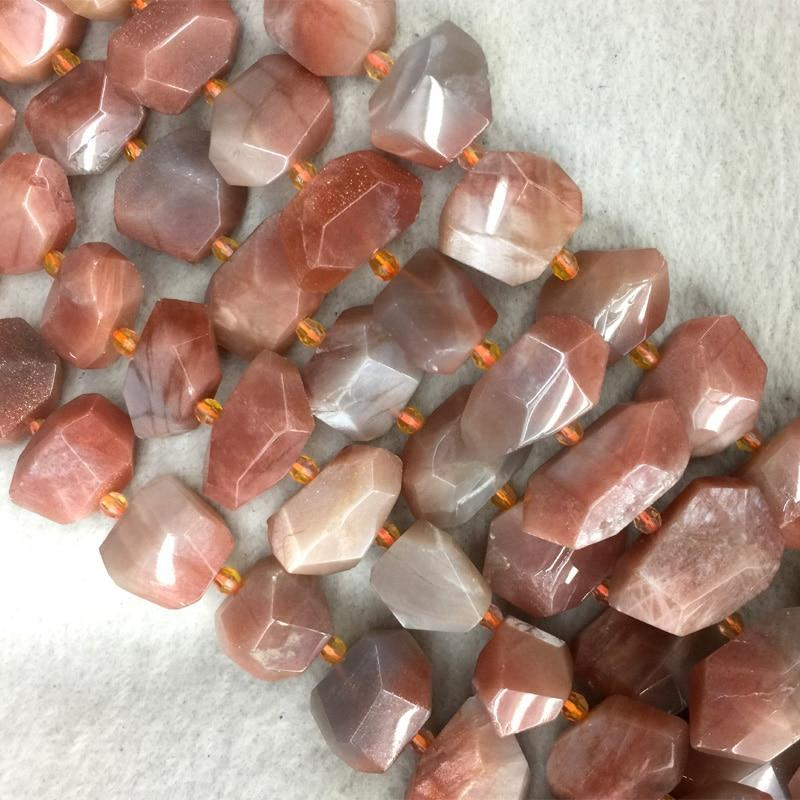 Natural Genuine Gold Sunstone Beads - atperry's healing crystals
