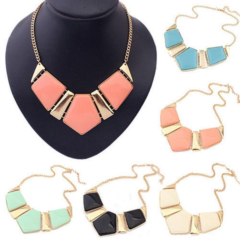 Candy Color Collar Necklace