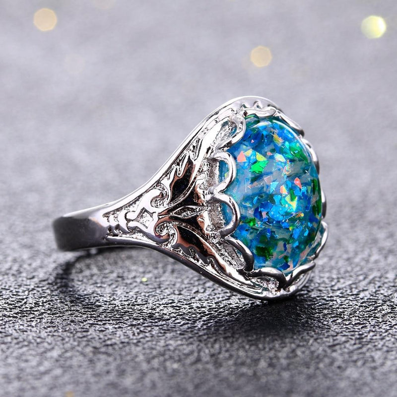 Classy Opal Ring- 925 Sterling Silver - atperry's healing crystals