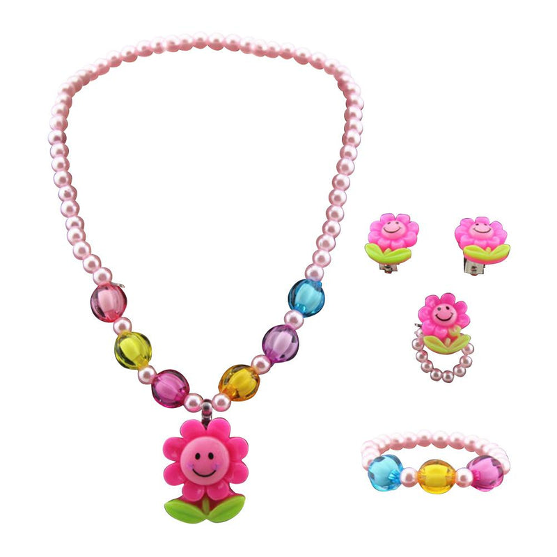 Stylish Sunflower Necklace Jewelry Set - For KidsNecklace