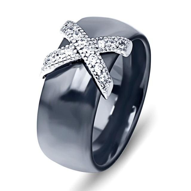 Black Crystal Cubic Zircon Ring - atperry's healing crystals