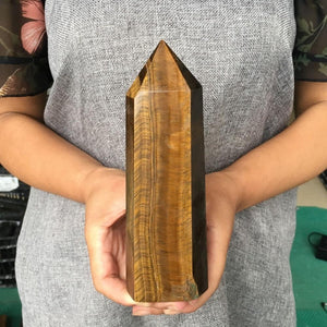 100% Natural Tiger Eye Crystal Stone - atperry's healing crystals